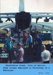 1990 Shackelton Crash Hercules aircraft