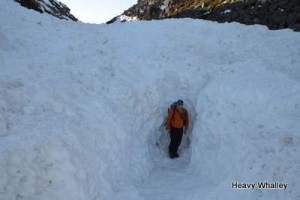 The Depth Of snow the day after the avalanche in 2013