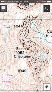 Beinn a ' Chaorainn map