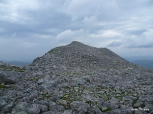 The rocky summit ridge