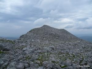 The rocky summit ridge