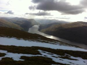 Loch Lyon - from the ridge Photos GMorrision