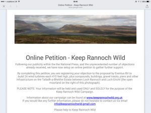 Rannoch Wind Farms