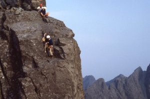 Abseil or lower down the short side of the In Pin