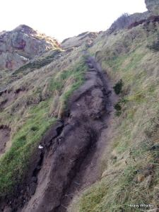 Path erosion at Cummingston.
