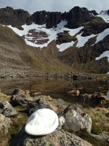Hat with a view - Coire an Lochan lovely day!