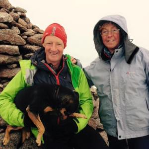Shona and Graeham on Cairngorm summit.