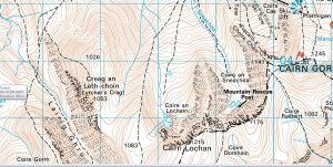 Lurchers Crag map