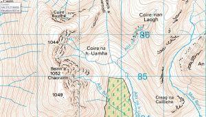 Map Beinn a Chourainn