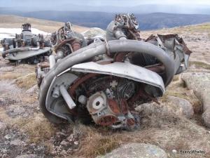 Port engine rear elevation