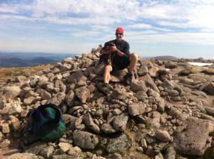 Summit of Braeriach with Penny and Graeham.