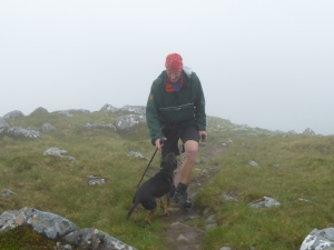The Munro man and Penny on their 5 Munro ! Sgurr na Carnach.
