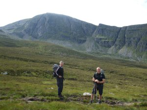 Looking at the great cliffs of Beinn Dearg
