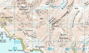 Beinn Sgritheall map