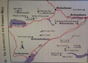 Day 82 Achnashellach and Torridon Hills Map Munros