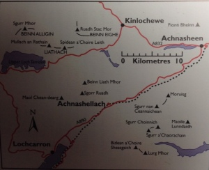 Day 83 Torridon and Achnasellach map