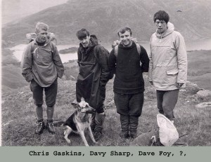 1973 Beinn Dorian in Curly boots and my own wolly jumper Tom Mac in his Hawkins boots and posh norweign jumper. all the rage in 73.