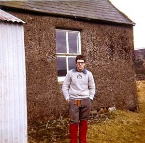 1973 a young Heavy at k khill of the Bush in Galloway a place that moulded me.