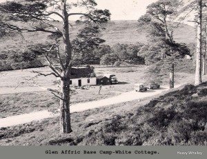 1974 - White cottage / Strawberry cottage in Glen Affric now a private house.