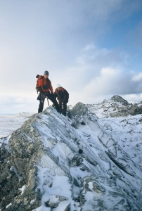 2000 Falklands scrambling wall mountain