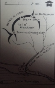 Beinn Alligin Map