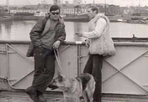 Bob Gray left and Sheba ? with Dixie in sheepskin!