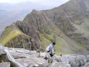 Looking along the Liathach Ridge