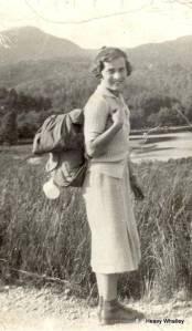 My Mum at Loch Osian 1938