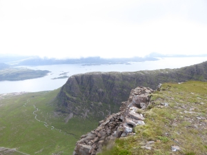 Views of Meall Gorm and the sea