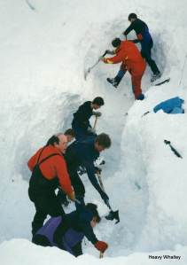 The huge effort by Glencoe, Lochaber, SARDA and the RAF Teams looking for the family of 3 that were avalanched on the Buachaille Etive Mor - A sad period.
