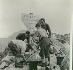 1966 - Abseil Posts on Carn Dearg put in by Kinloss MRT and Hamish to stop the accidents in this area. These were taken down recently! as they were in s state of disrepair.