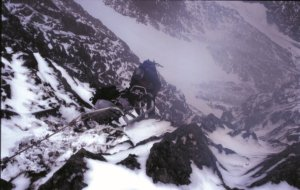 Lower from North East Buttress on Ben Nevis - Photo M.Tighe