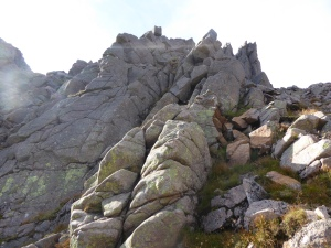 A wee scramble before the main ridge a bit loose but fun!