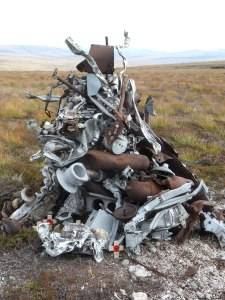 The Wreckage from the Wellington Crash in The Cairngorms