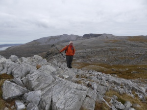 Looking at this wild place with Conival and Ben More Assynt in the background this is wild land.