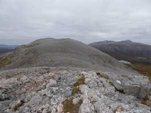The rough ground on the ridge - makes walking a bit interesting, this is a wild place.