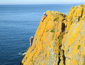 Tom Mac Donalds photo of the cliff summs up the stunning colours and beauty of this place.Portsoy Paradise!