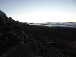 The dusk on the Cairngorms.