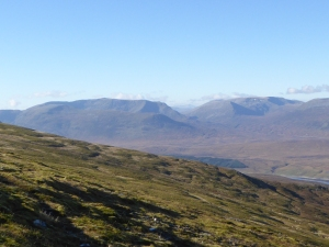 Great views into Ben Alder and Geal Charn