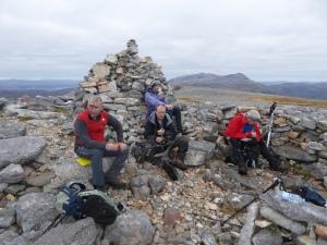 Summit break on the Corbett Glas Bheunn