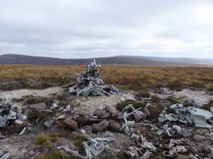 Wreckage cairn at An Lurg