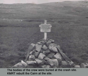 The original Memorial after the crash