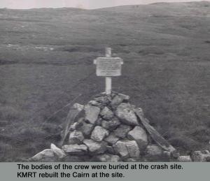 The original Memorial after the crash