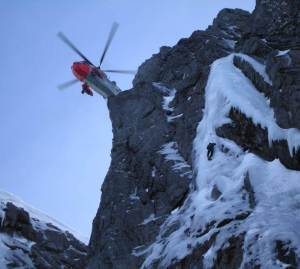 Bristows our new SAR Helicopter above Smiths Route a welcome addition to those who need help.