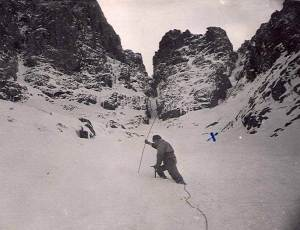 Early Avalanche call -out late 50's Ben Nevis in Castle Gullies.
