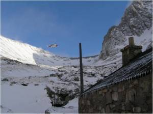 The new SAR Helicopter on the Ben changing days.
