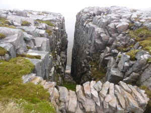 The walled gully next to the big corries - winter potential?