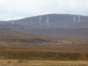 Windfarm near the Fannichs