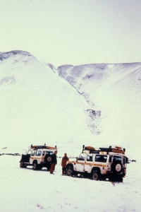 On a call -out in 2000 looking at the avalanche slope.