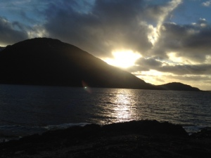 Sunset over Loch Linnie